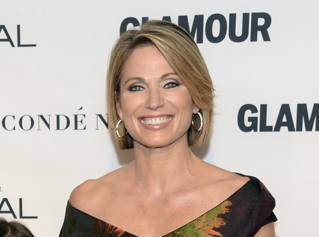 FILE - In this Nov. 9, 2015 file photo, Amy Robach attends the 25th Annual Glamour Women of the Year Awards in New York. The ABC News correspondent ha