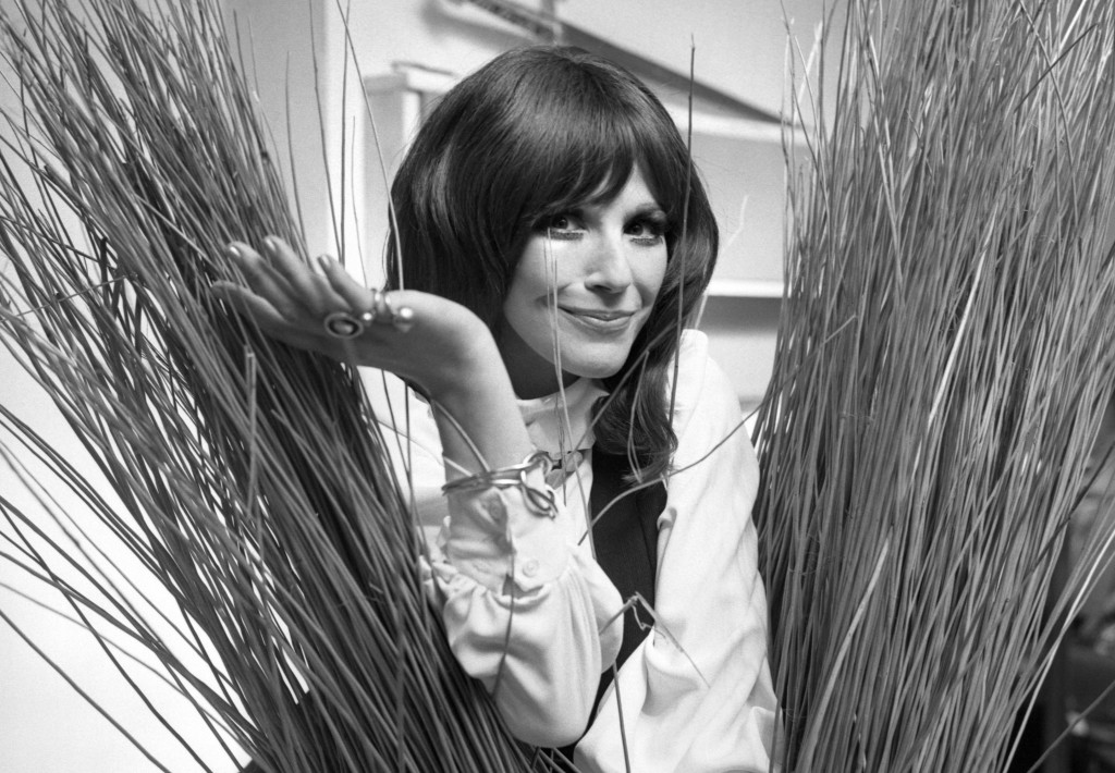 FILE - In this Sept. 16, 1971, Fenella Fielding poses ahead of a one woman entertainment piece at the Withy Arts Festival in Somerset, England. Britis