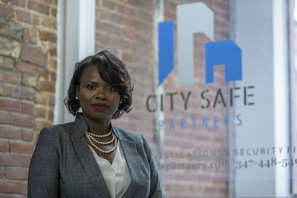In this Sept. 7, 2018, photo Soyini Chan-Shue poses for a portrait at City Safe Partner's office in New York. Although Chan-Shue easily delegated work