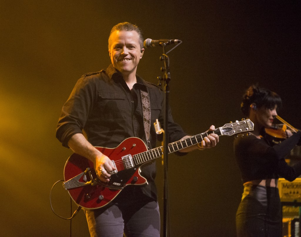 FILE - In this Feb. 6, 2018 file photo, singer-songwriter Jason Isbell performs in concert as Jason Isbell & the 400 Unit in Baltimore. Isbell leads t