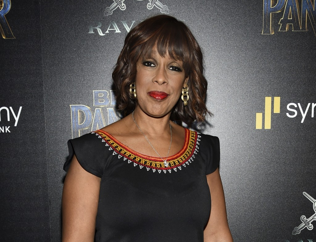 "FILE - In this Feb. 13, 2018 file photo, ""CBS This Morning"" anchor Gayle King attends a special screening of ""Black Panther"" in New York. King says th"