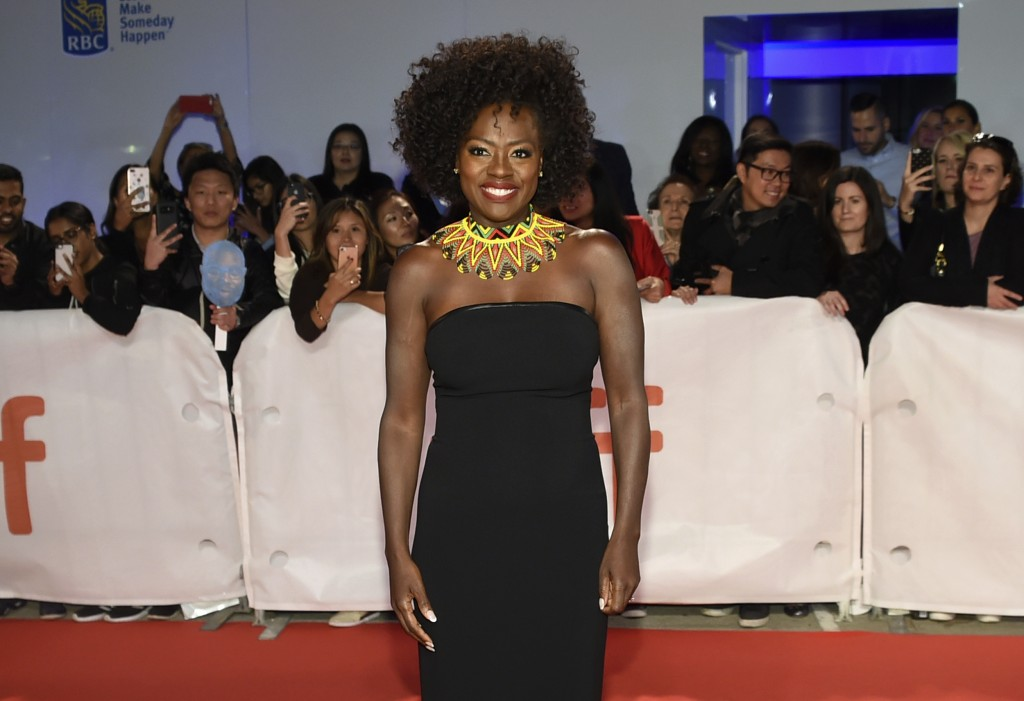 "FILE - In this Sept. 8, 2018, file photo, Viola Davis attends the premiere for ""Widows"" on Day 3 of the Toronto International Film Festival at Roy Tho"