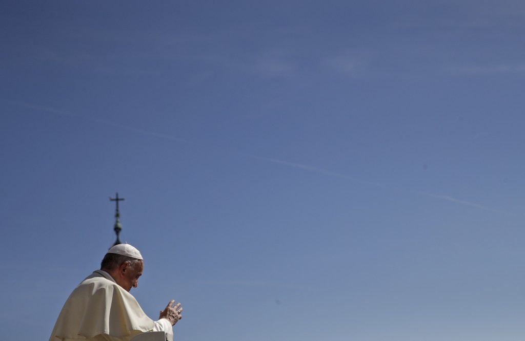 Pope Francis leaves s at the end of his general audience in St. Peter's Square at the Vatican Wednesday, Sept. 12, 2018. (AP Photo/Alessandra Tarantin