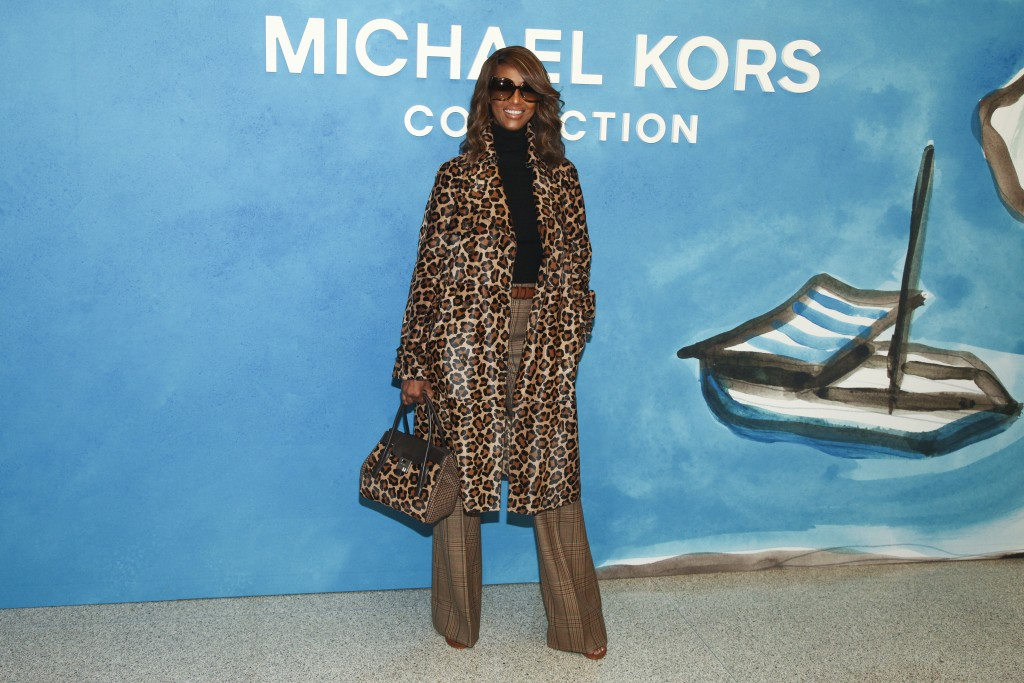 Iman attends the NYFW Spring/Summer 2019 Michael Kors fashion show at Pier 17 on Wednesday, Sept. 12, 2018, in New York. (Photo by Andy Kropa/Invision