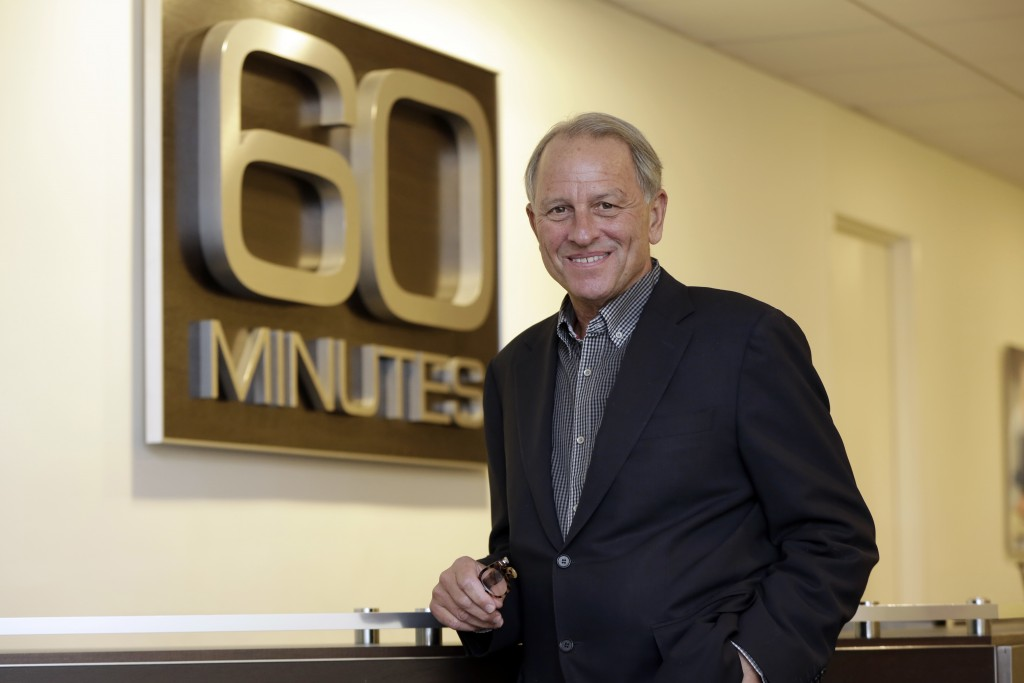 "FILE - In this Sept. 12, 2017 file photo, ""60 Minutes"" Executive Producer Jeff Fager poses for a photo at the ""60 Minutes"" offices, in New York. Fager"