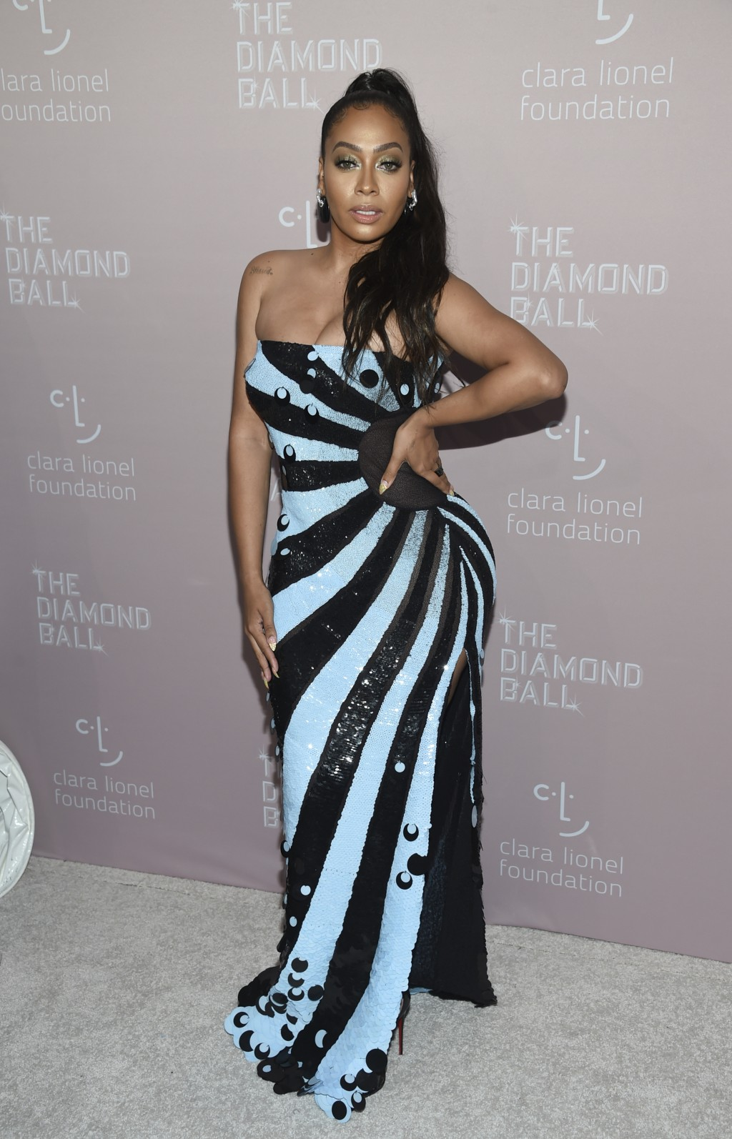 La La Anthony attends the 4th annual Diamond Ball at Cipriani Wall Street on Thursday, Sept. 13, 2018, in New York. (Photo by Evan Agostini/Invision/A...