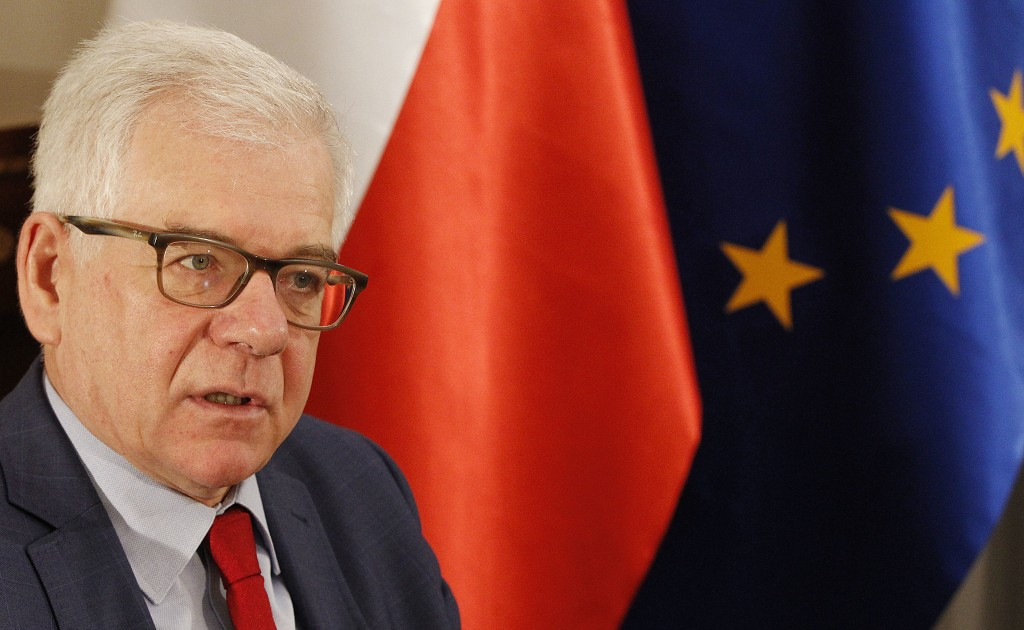 Poland's Foreign Minister Jacek Czaputowicz says that President Andrzej Duda will discuss boosting the U.S. military presence in Poland and greater U.