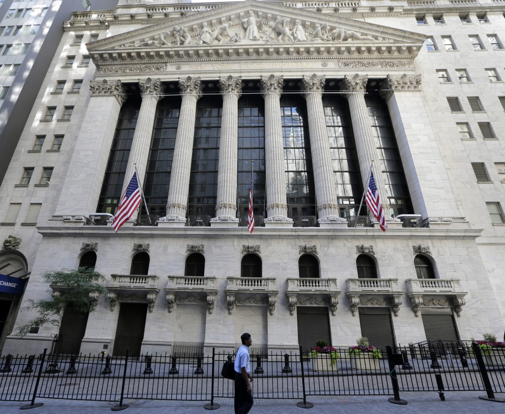 FILE- This June 25, 2018, file photo shows the New York Stock Exchange in New York. The U.S. stock market opens at 9:30 a.m. EDT on Friday, Sept. 14.