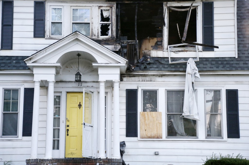 A house on Herrick Road in North Andover, Mass., is seen Friday, Sept. 14, 2018. The home was one of multiple houses that went up in flames on Thursda