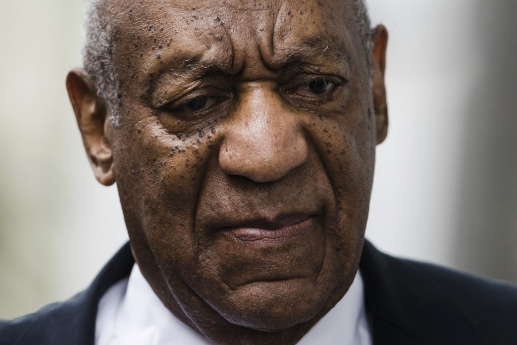 FILE - In this June 17, 2017 file photo, Bill Cosby arrives for his sexual assault trial at the Montgomery County Courthouse in Norristown, Pa. The pr
