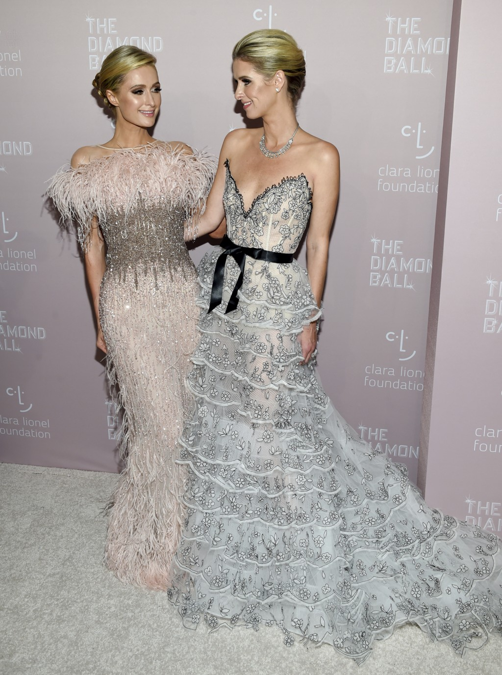 Sisters Paris Hilton, left, and Nicky Hilton Rothschild attend the 4th annual Diamond Ball at Cipriani Wall Street on Thursday, Sept. 13, 2018, in New...
