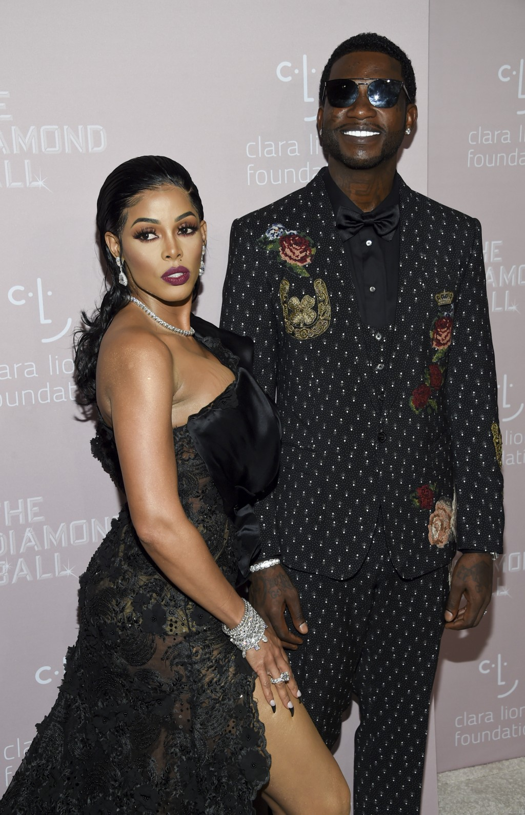 Rapper Gucci Mane, right, and fiancee Keyshia Ka'oir attend the 4th annual Diamond Ball at Cipriani Wall Street on Thursday, Sept. 13, 2018, in New Yo...