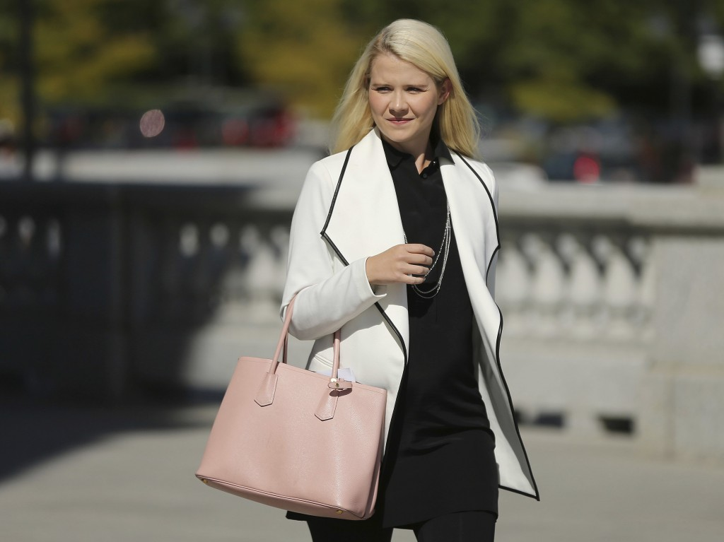 Elizabeth Smart walks to her press conference at the Utah State Capitol in Salt Lake City on Thursday, Sept. 13, 2018. Wanda Barzee will be released f...