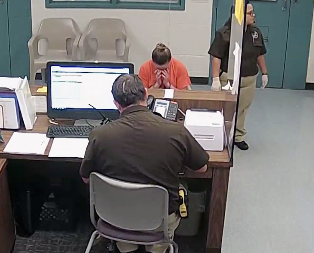 This photo from video released Thursday, Sept. 13, 2018, by the Kaufman County Sheriff's Office in Kaufman, Texas, shows Dallas police Officer Amber G