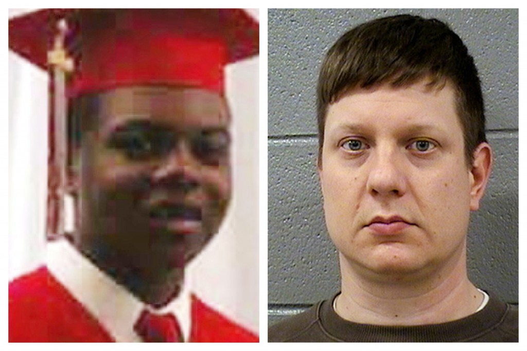 This combination of photos shows Laquan McDonald and former Chicago Police Officer Jason Van Dyke. On Monday, Sept. 17, 2018, Van Dyke will go on tria