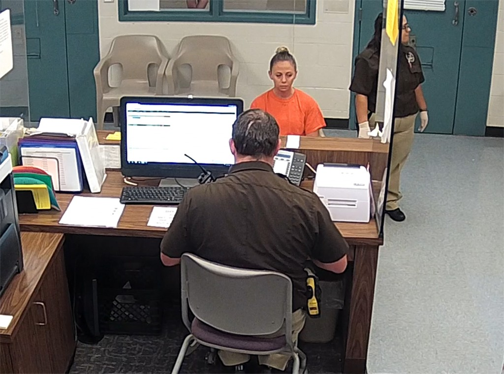 This photo from video released Thursday, Sept. 13, 2018, by the Kaufman County Sheriff's Office in Kaufman, Texas, shows Dallas police Officer Amber G...