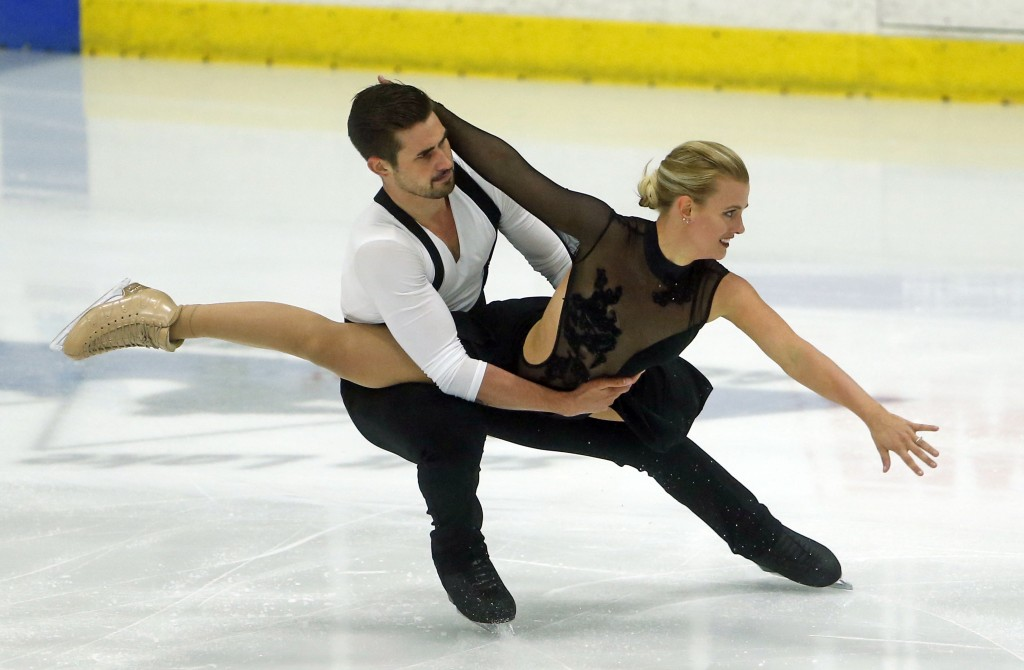 Madison Hubbell and Zachary Donohue, of the of United States, compete during ice dance at the U.S. International Figure Skating Classic, Friday, Sept.