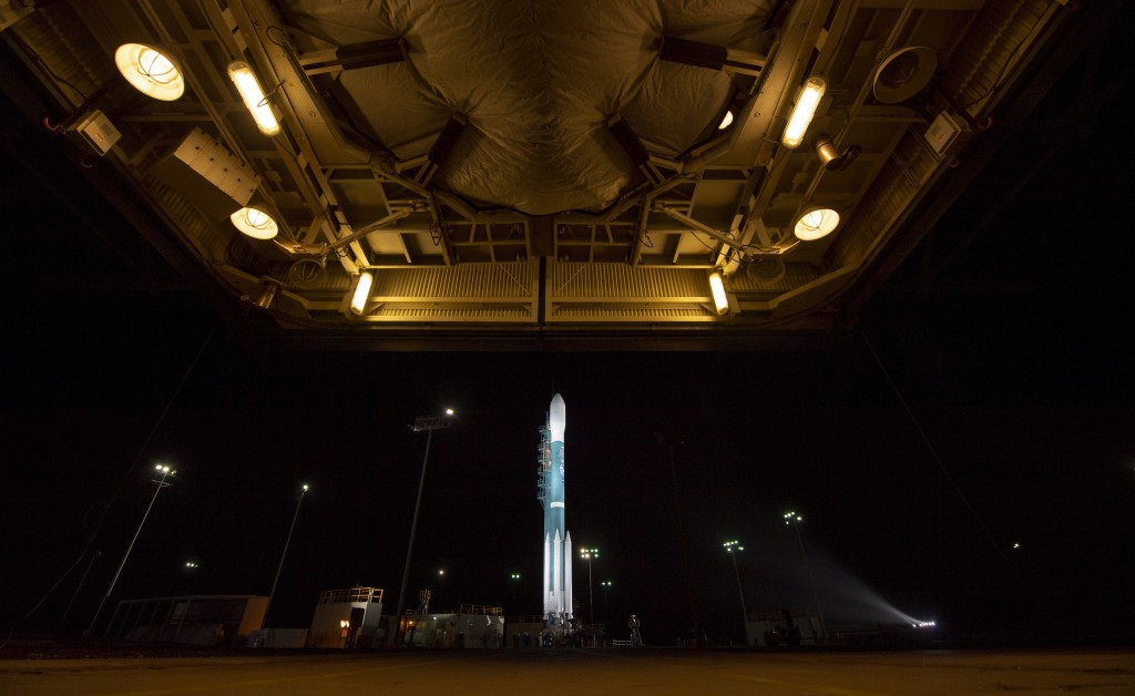 The United Launch Alliance (ULA) Delta II rocket with the NASA Ice, Cloud and land Elevation Satellite-2 (ICESat-2) onboard is seen shortly after the