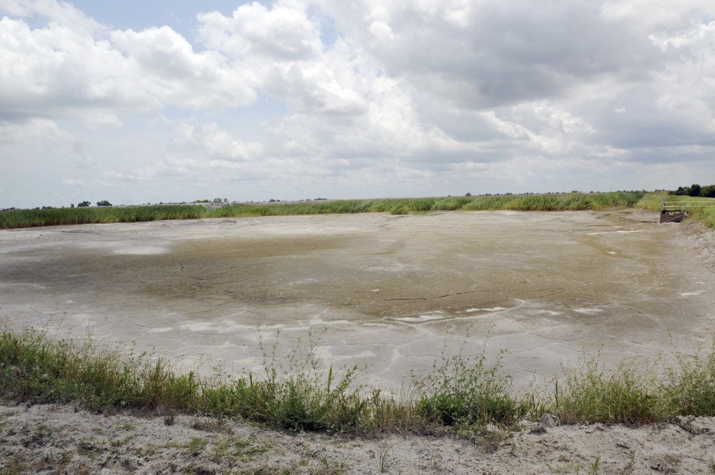 FILE - In this June 23, 2014 file photo, the dried-up bed of an inactive coal ash pond is seen at Duke Energy's Sutton plant in Wilmington, N.C. Duke