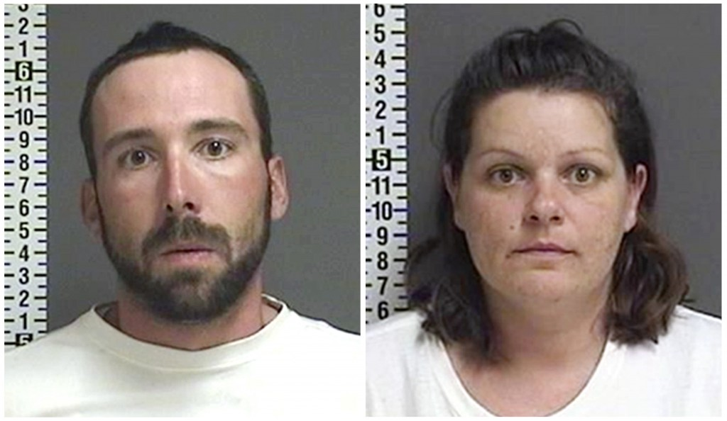 FILE - This combination of file photos provided by the Cass County Sheriff's Office in Fargo, N.D., shows William Hoehn, and his girlfriend Brooke Cre