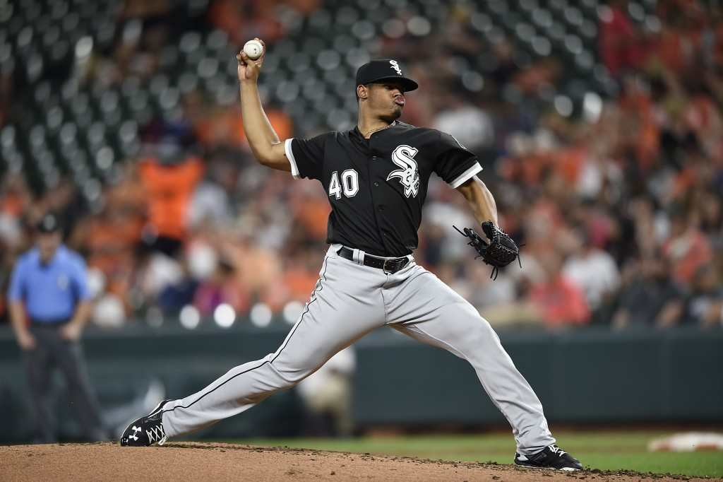 Chicago White Sox pitcher Reynaldo Lopez delivers against the Baltimore Orioles in the thirdinning of a baseball game, Saturday, Sept. 15, 2018, in Ba