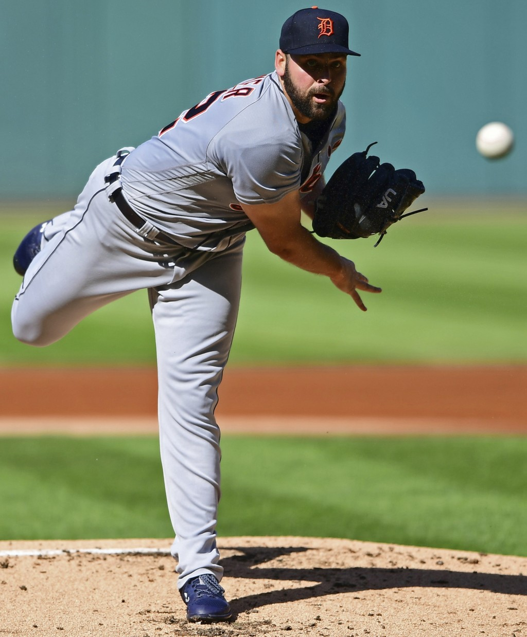 Detroit Tigers starting pitcher Michael Fulmer delivers in the first inning of a baseball game against the Cleveland Indians, Saturday, Sept. 15, 2018