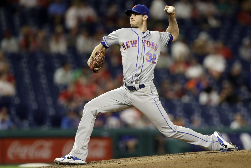 New York Mets' Steven Matz pitches during the third inning of the team's baseball game against the Philadelphia Phillies, Tuesday, Sept. 18, 2018, in ...