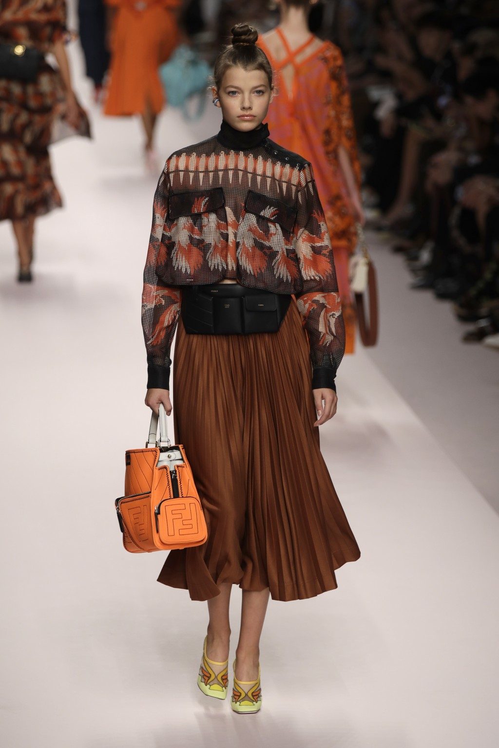 2af68194b72 A model wears a creation as part of the Fendi women s 2019 Spring-Summer  collection