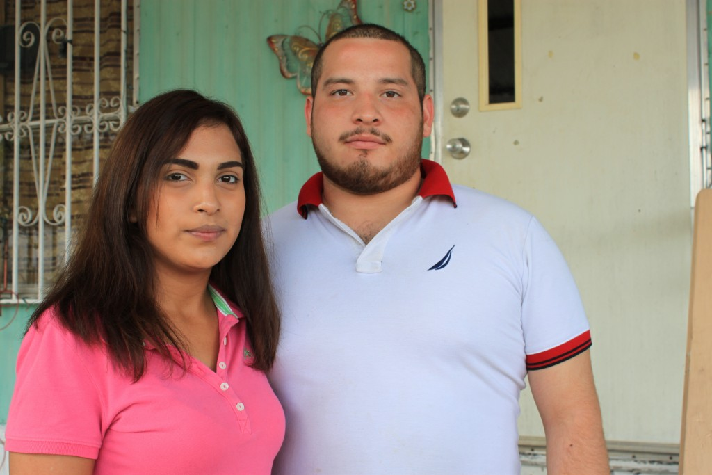 Gracie Perez, right, and husband Cesar Ramirez pose for a portrait Tuesday, Sept. 18, 2018, in Rio Bravo, Texas. Ramirez's sister, Melissa, was among