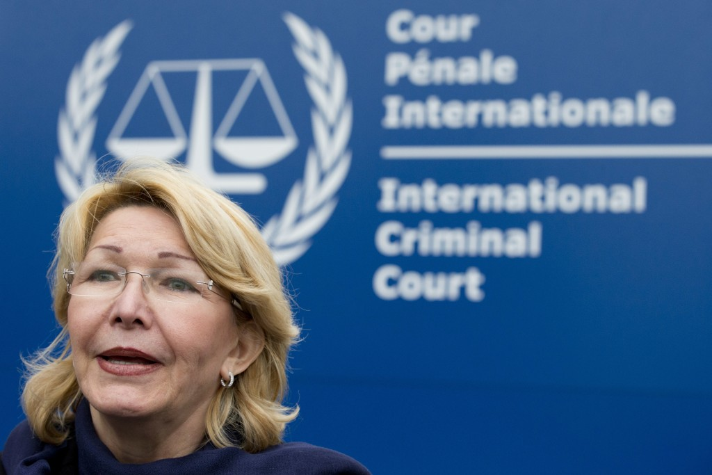 FILE - In this Nov. 16, 2017 file photo, ousted Venezuelan prosecutor general Luisa Ortega gives a brief statement after presenting evidence denouncin...