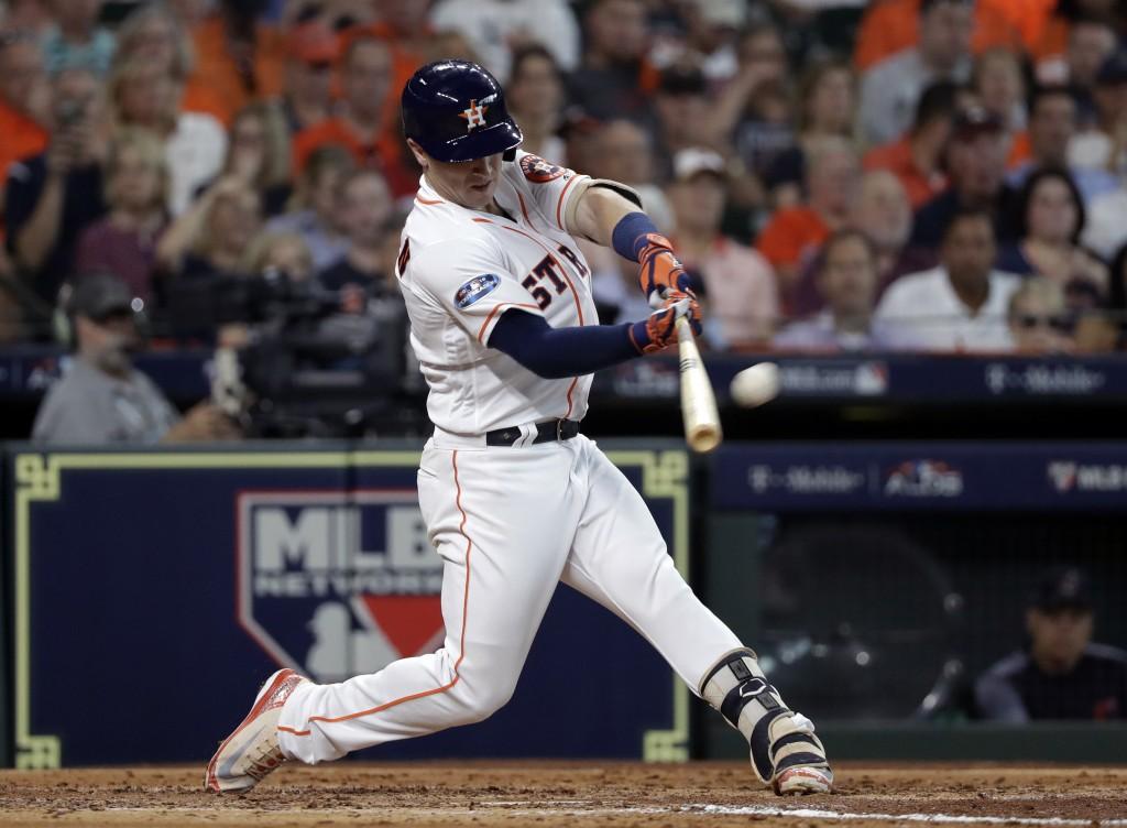3bd57066c Houston Astros  Alex Bregman hits a solo home run against the Cleveland  Indians  Corey