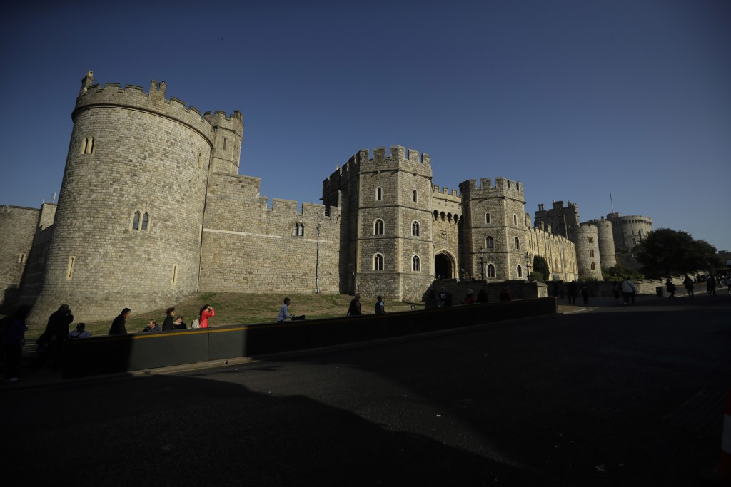 Windsor Castle stands under a blue sky ahead of the wedding of Britain's Princess Eugenie in Windsor, England, Wednesday, Oct. 10, 2018. The 28-year-o