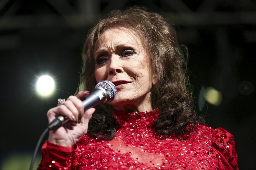 FILE - In this March 17, 2016, file photo, Loretta Lynn performs at the BBC Music Showcase at Stubb's during South By Southwest in Austin, Texas. Lynn