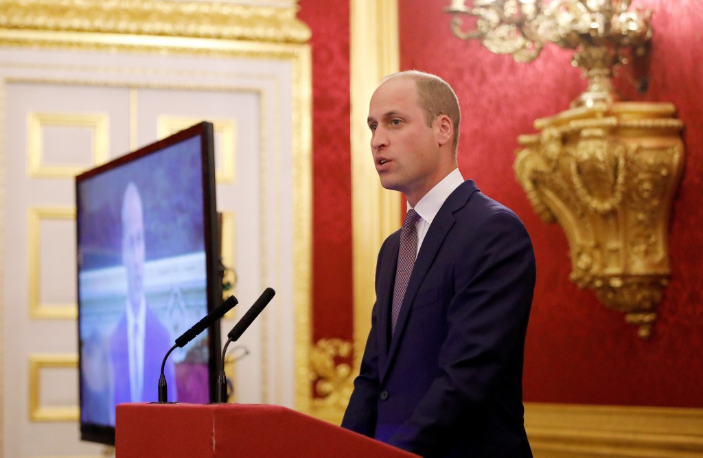 Britain's Prince William, officially opens the 2018 Illegal Wildlife Trade Conference at St James' Palace in London, Wednesday Oct. 10, 2018. The 2018