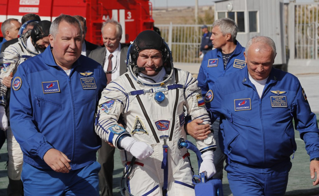 American and Russian astronaut rescued after emergency landing following rocket booster malfunction