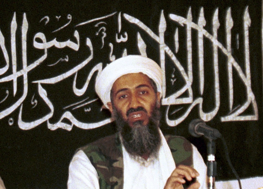 FILE - In this 1998 file photo made available on March 19, 2004, Osama bin Laden is seen at a news conference in Khost, Afghanistan. The United States