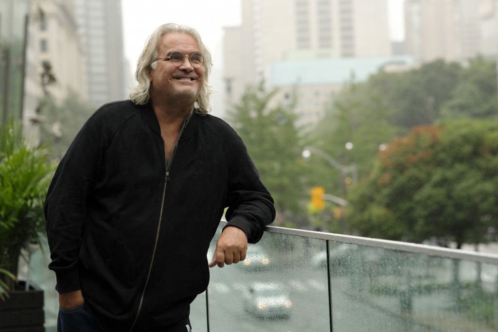 """This Sept. 10, 2018 photo shows filmmaker Paul Greengrass posing for a portrait at the Shangri-La Hotel to promote his film """"22 July,"""" during the Toro"""