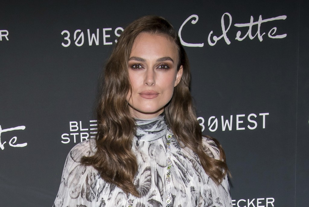 "FILE - In this Thursday, Sept. 13, 2018 file photo, Keira Knightley attends a screening of ""Colette"" at The Museum of Modern Art in New York. A fund s"