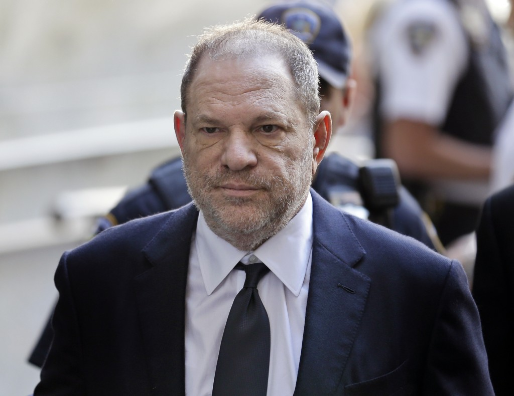 FILE - In this June 5, 2018, file photo, Harvey Weinstein arrives at court in New York. Weinstein is set to appear before a New York judge as his lawy