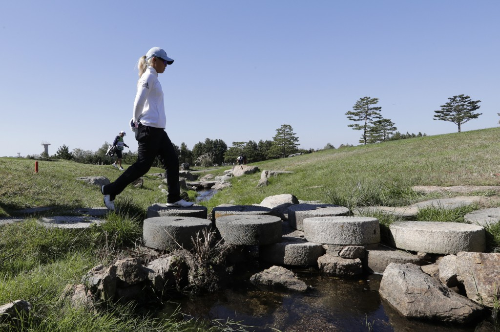Danielle Kang of the United States walks on the second hole during the second round of the LPGA KEB Hana Bank Championship at Sky72 Golf Club in Inche