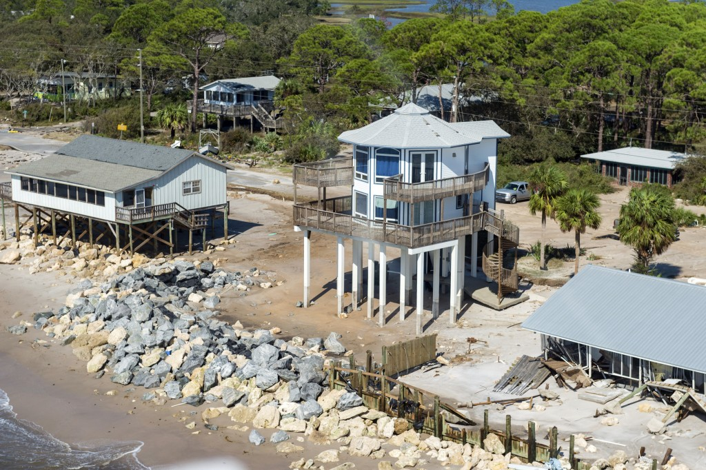 Aerial photos of the aftermath of Hurricane Michael on St Teresa Beach, Fla., Thursday, Oct. 11, 2018. (Scott Clause/The Daily Advertiser via AP)