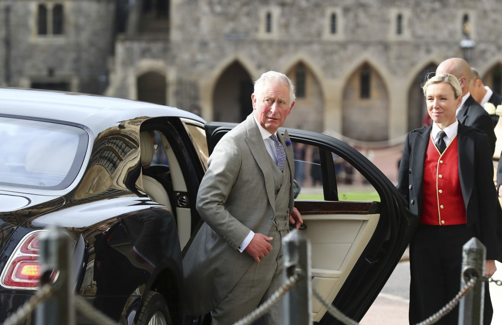 Britain's Prince Charles arrives ahead of the wedding of Princess Eugenie of York and Jack Brooksbank at St George's Chapel, Windsor Castle, near Lond