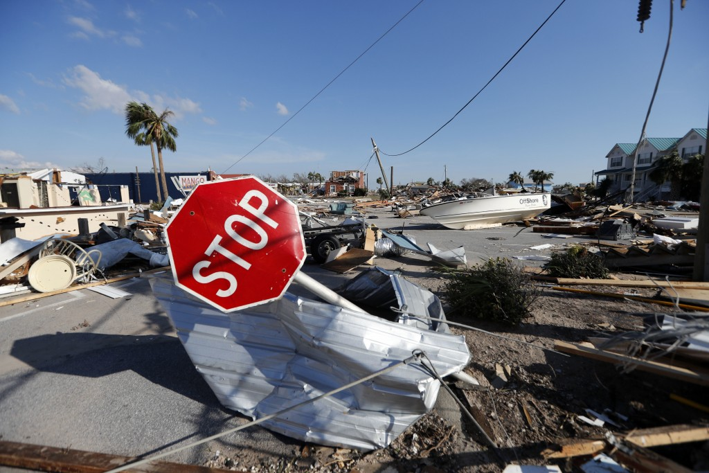 Destruction is seen in the aftermath of Hurricane Michael in Mexico Beach, Fla., Thursday, Oct. 11, 2018. The devastation inflicted by Hurricane Micha