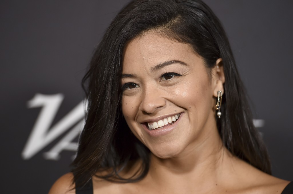 Gina Rodriguez arrives at Variety's Power of Women event on Friday, Oct. 12, 2018, at the Beverly Wilshire hotel in Beverly Hills, Calif. (Photo by Jo