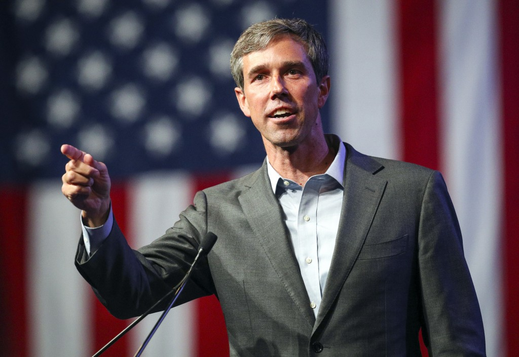 FILE - In this June 22, 2018, file photo, Beto O'Rourke speaks during the general session at the Texas Democratic Convention in Fort Worth, Texas. For