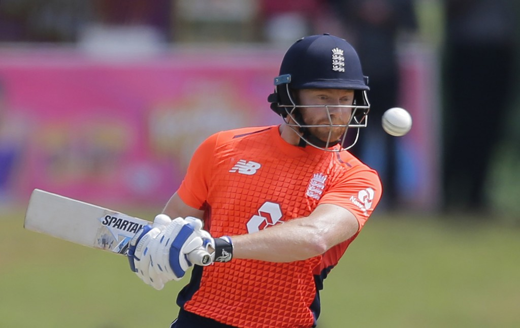 England's Jonny Bairstow avoids a rising delivery bowled by Sri Lanka's Nuwan Pradeep during their second one-day international cricket match in Dambu