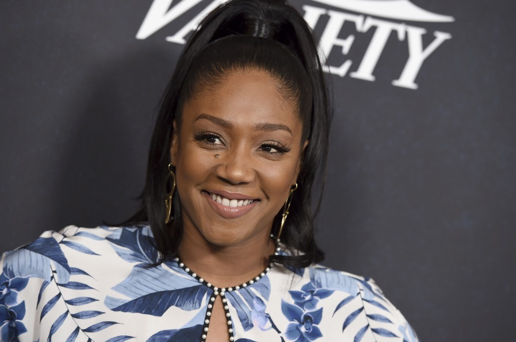 Tiffany Haddish arrives at Variety's Power of Women event on Friday, Oct. 12, 2018, at the Beverly Wilshire hotel in Beverly Hills, Calif. (Photo by J