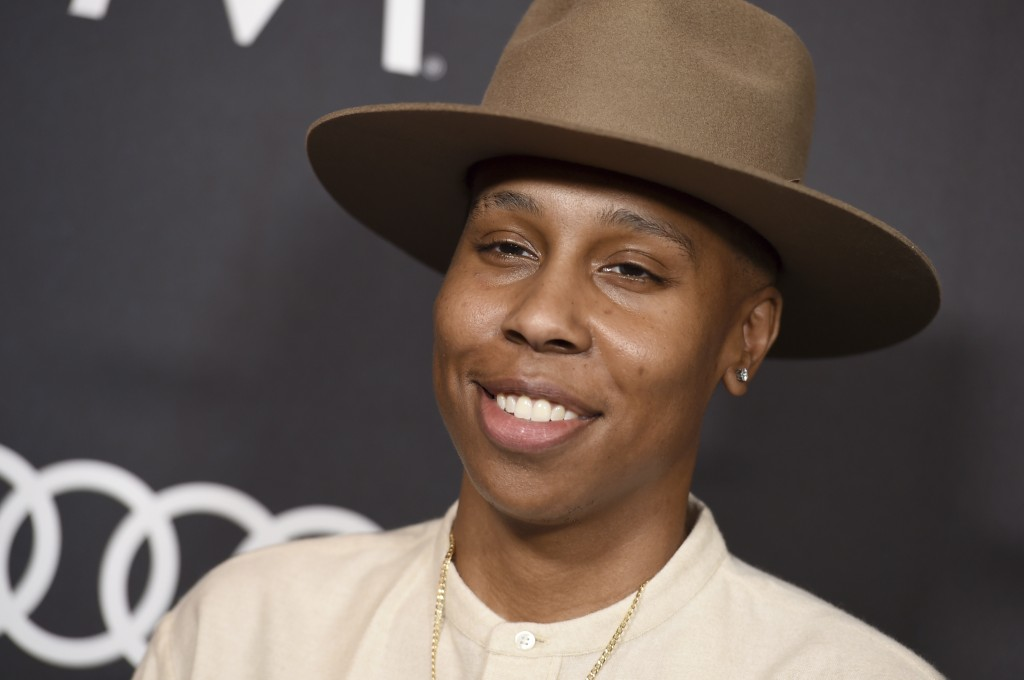 Lena Waithe arrives at Variety's Power of Women event on Friday, Oct. 12, 2018, at the Beverly Wilshire hotel in Beverly Hills, Calif. (Photo by Jorda