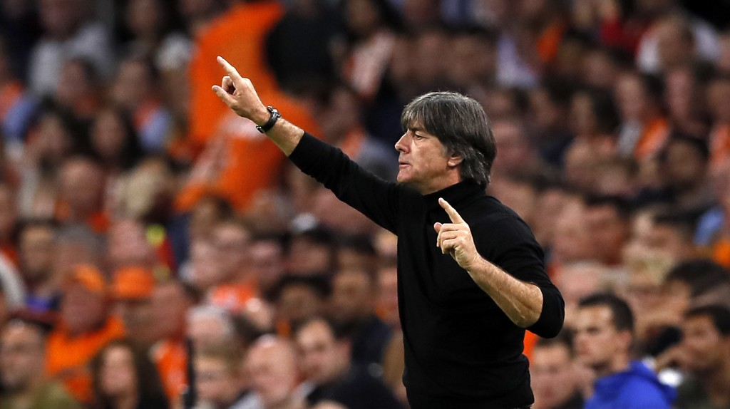 Germany's head coach Joachim Loew coaches his team during the UEFA Nations League soccer match between The Netherlands and Germany at the Johan Cruyff