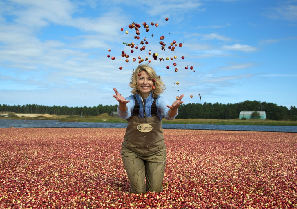 "This image released by PBS shows host Samantha Brown in a cranberry bog in Wareham, Mass. to promote the three-night public TV series, ""AutumnWatch Ne..."